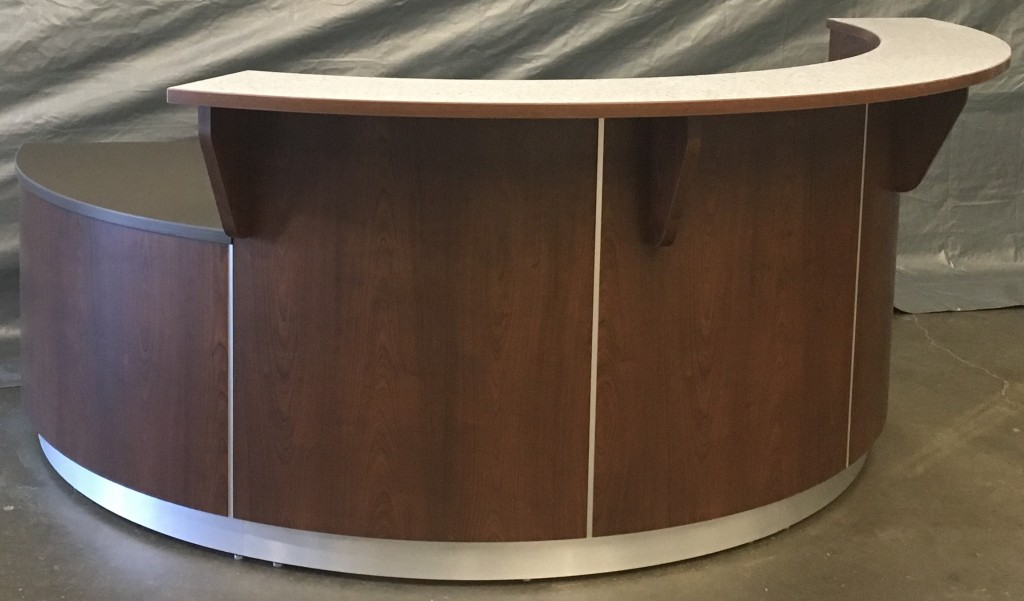 Curved Reception Desk, Exterior View