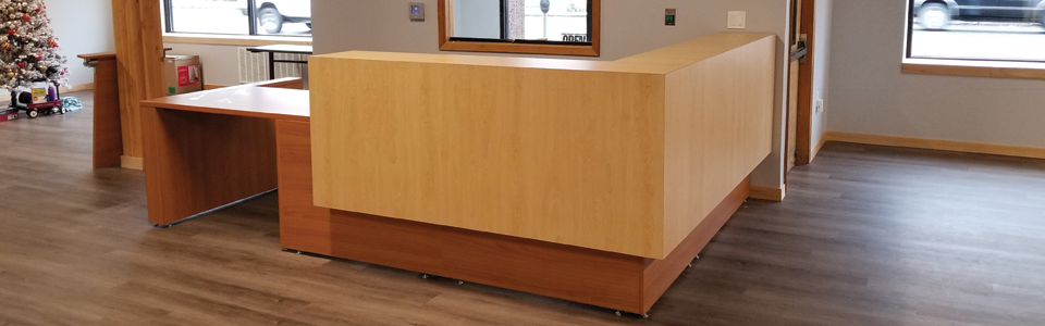 L-Shaped Reception Station with ADA Access